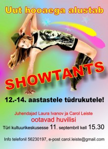 2014 tüdrukute showtants